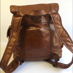 Fossil unisex Leather Backpack